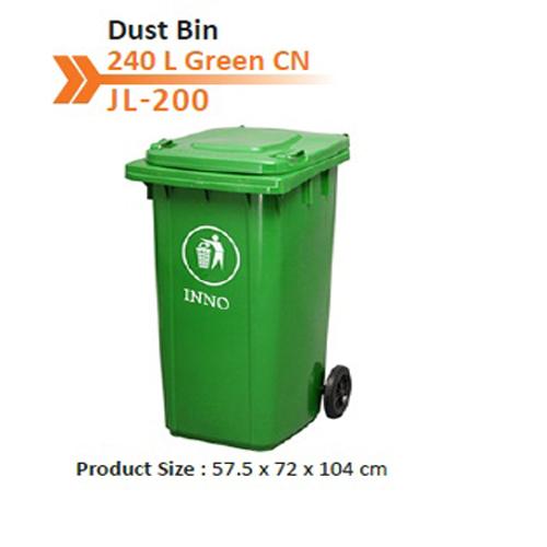 Dust Bin 240 L Green CN