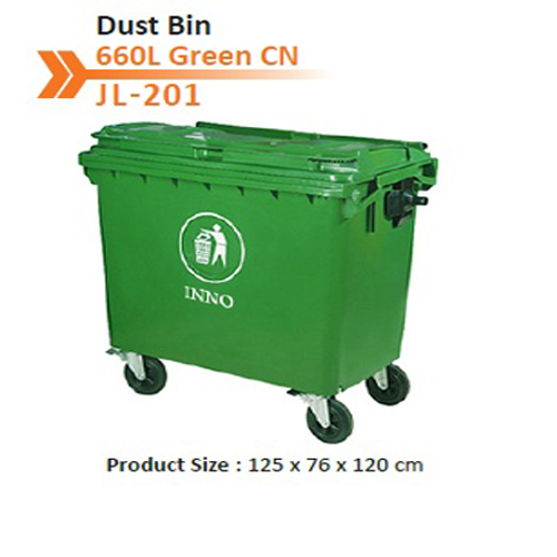 Dust Bin 660 L Green CN