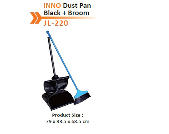INNO Dust Pan Black + Broom